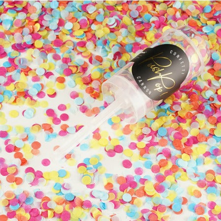 Rainbow Wedding Confetti Push Pop Cannon I Pretty Party Accessories I My Dream Party Shop I UK