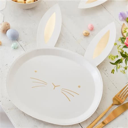 Daisy Crazy Easter Bunny Plates I Easter Party Tableware I My Dream Party Shop I UK