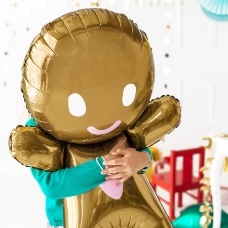 Gingerbread Man Foil Balloon I Festive Balloons I My Dream Party Shop UK