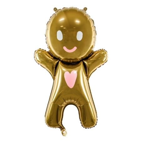 Gingerbread Man Foil Balloon I Christmas Balloons I My Dream Party Shop UK