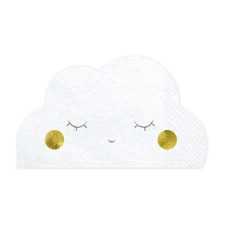 Cute Cloud Napkins I Baby Shower Tableware I UK