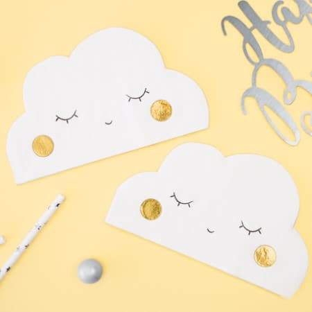 Cute Cloud Napkins I First Birthday Tableware I UK