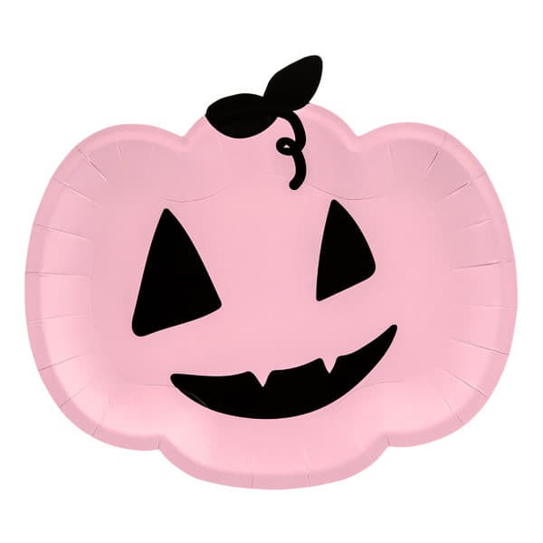 Halloween Pink Pumpkin Plates I Modern Halloween Party I My Dream Party Shop I UK