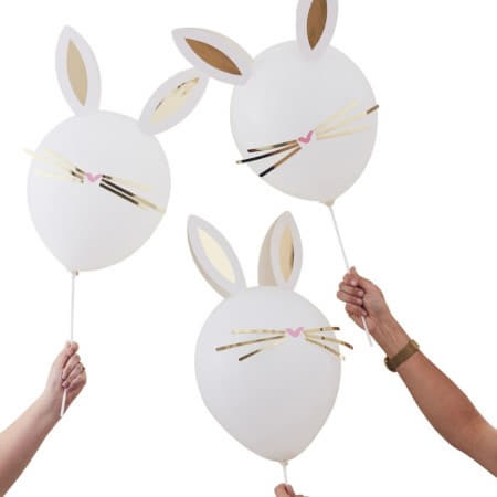 Daisy Crazy Easter Bunny Balloons by Ginger Ray I Easter Party Decorations I UK