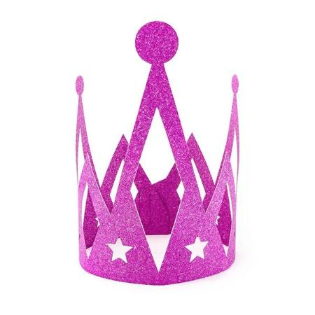 Dark Pink Sparkly Princess Crown I Princess Party Supplies I My Dream Party Shop