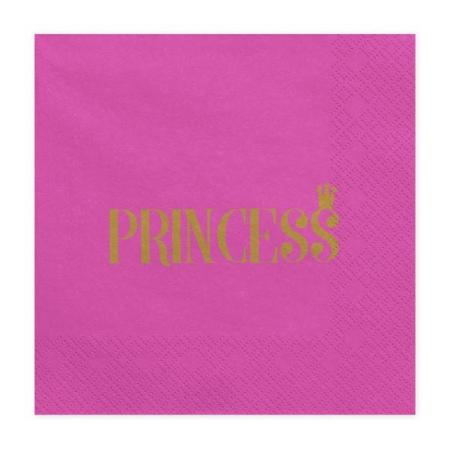 Dark Pink and Gold Princess Crown Party Napkins - My Dream Party Shop