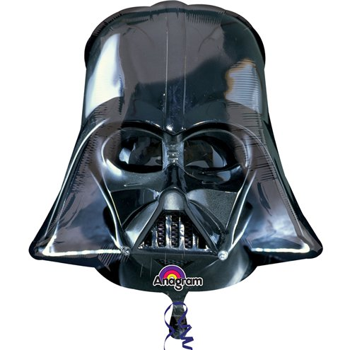 Black Foil Balloon of Darth Vader's Helmet I Star Wars Party I UK