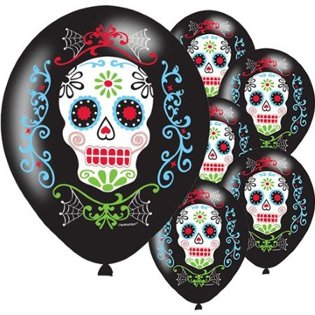 Day of the Dead Latex Skull Balloons I Day of the Dead Party I My Dream Party Shop