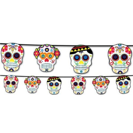 Day of the Dead Skull Garland I Day of the Dead Party I My Dream Party Shop UK