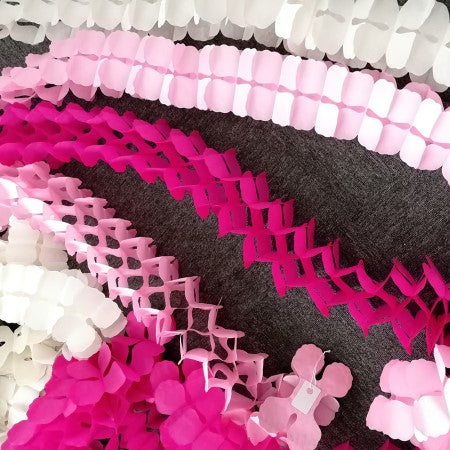 Pale Pink Four Leaf Clover Tissue Paper Garland I Tissue Party Garlands I My Dream Party Shop I UK