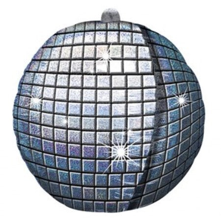 15 Inch Disco Ball Foil Balloon Holographic Pattern I Disco Party I UK