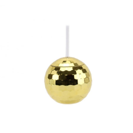 Gold Disco Ball Cocktail Cup with Straw I Cool Disco Ball Shaped Party Cups I My Dream Party Shop I UK