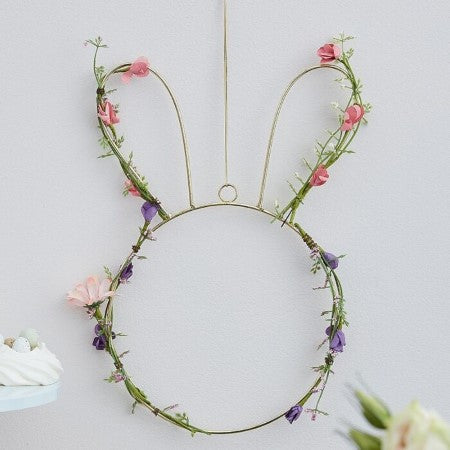 Easter Bunny Shaped Flower Wreath I Easter Decorations I My Dream Party Shop