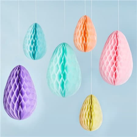 Easter Honeycomb Egg Decorations I Easter Party Decorations I My Dream Party Shop UK