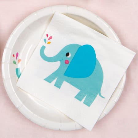 Elvis the Elephant Napkins I Baby Shower Tableware I My Dream Party Shop