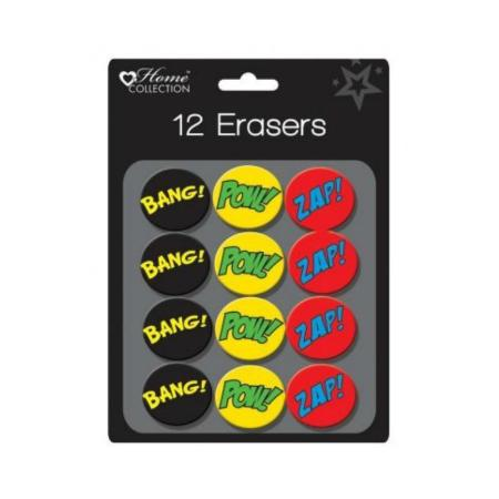 Superhero Erasers 12 Pack - My Dream Party Shop