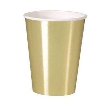 Extra Large Gold Foil Cups I Gold Party Tableware I My Dream Party Shop UK