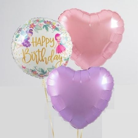 Wild Flower Fairies 18 Inch Qualatex Balloon I Happy Birthday Balloons I My Dream Party Shop UK