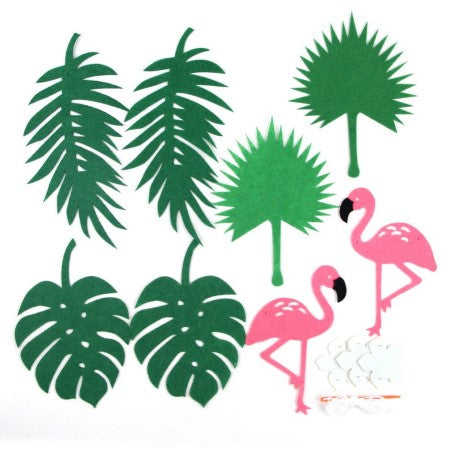 Pink Flamingo and Leaf Garland I Tropical Party Decorations I My Dream Party Shop I UK