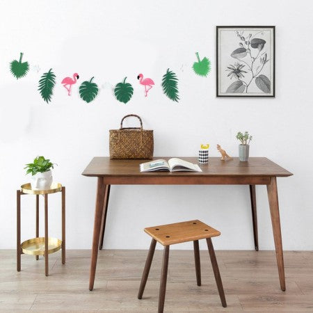 Hot Pink Flamingo and Green Leaves Garland I Flamingo Party Decorations I My Dream Party Shop I UK