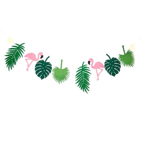 Pink Flamingo and Leaf Garland I Flamingo Party Decorations I My Dream Party Shop I UK