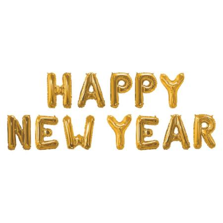 Gold Happy New Year Foil Balloon Bunting - My Dream Party Shop