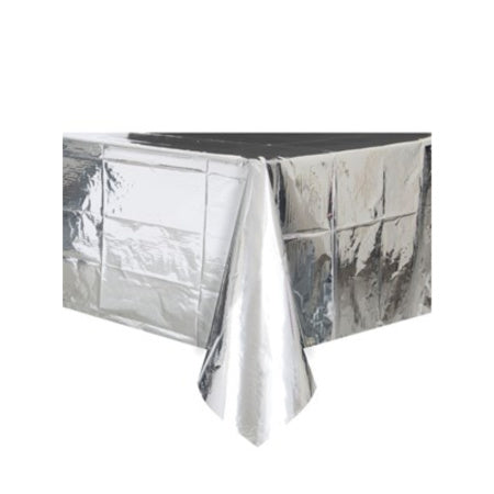 Metallic Silver Table Cover I Pretty Silver Tableware I My Dream Party Shop I UK