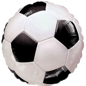 18 inch Foil Black and White Football Party Balloon I My Dream Party Shop I UK