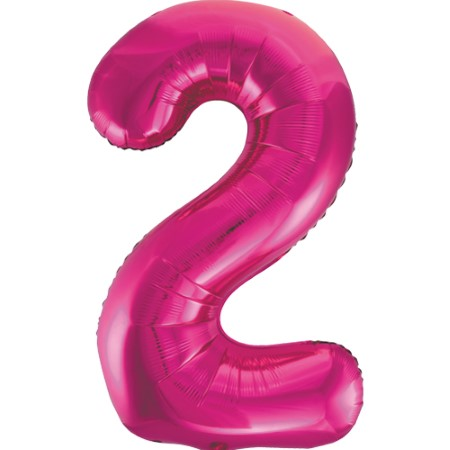 Gigantic Metallic Pink Foil Number 2 Balloon I Milestone Birthday I My Dream Party Shop