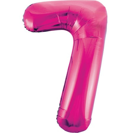 Gigantic Metallic Pink Foil Number 7 Balloon I Milestone Birthday I My Dream Party Shop