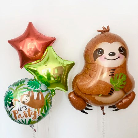 Sloth Foil Balloons Inflated for collection Ruislip I My Dream Party Shop