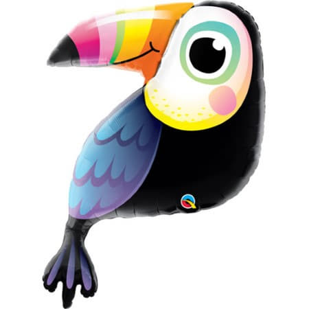 Giant Toucan Supershape Balloon 41 inches I Summer Party Balloons I My Dream Party Shop UK