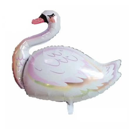 Giant Swan Foil Balloon I Pretty Foil Balloons I My Dream Party Shop UK