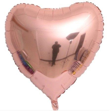Giant Metallic Rose Gold Heart Balloon I Cool Valentines Balloons I UK