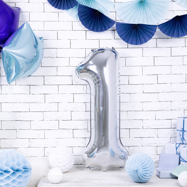 Gigantic Silver Foil Number Balloons, 34 Inches I My Dream Party Shop I UK