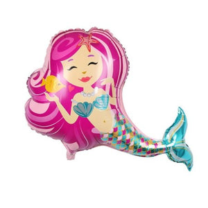 Enchanting Pink Mermaid 38 Inch Foil Balloon I Mermaid Party Decorations & Balloons I My Dream Party Shop I UK