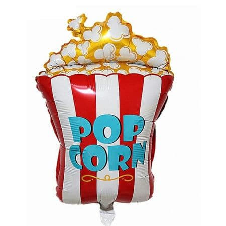 Popcorn Foil Balloon I Movie Night Party Decorations I My Dream Party Shop UK