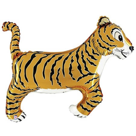 Giant Tiger Foil Balloon I Foil Supershape 41 inch Tiger Balloon I UK