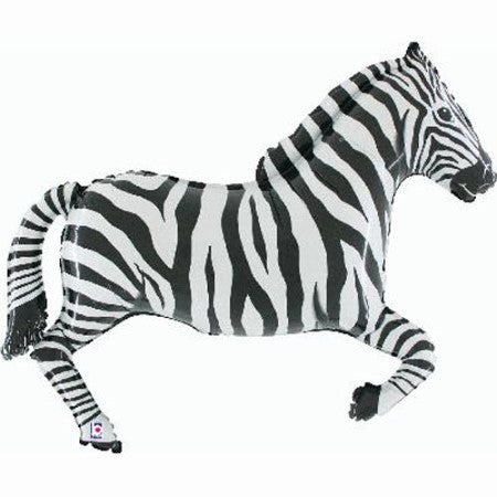 Giant Zebra Balloon I 42 inch Supershape Foil Balloon in the Shape of a  Zebra I UK