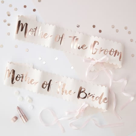 Mother of the Bride and Groom Sashes I Cool Hen Party Accessories I My Dream Party Shop I UK