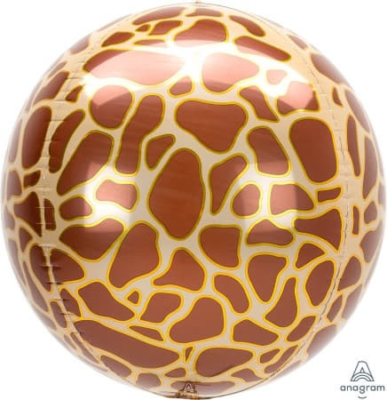 Metallic Giraffe Print Orbz Balloon I Jungle Balloons I My Dream Party Shop UK