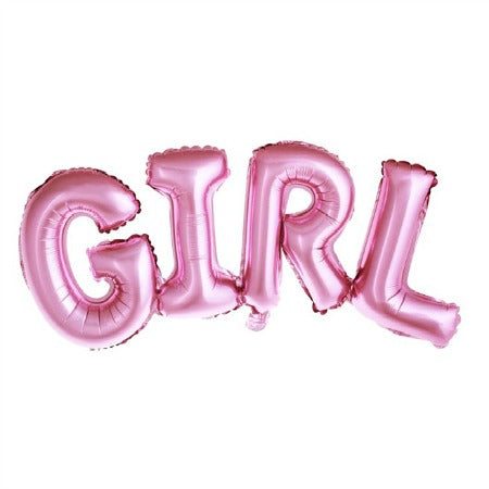 Metallic Foil Pink Girl Balloon I Gender Reveal Party I My Dream Party Shop I UK