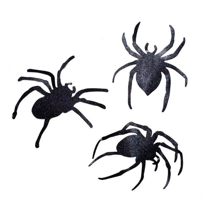 Black Spider Cutout Decorations I Cool Halloween Party Supplies I My Dream Party Shop I UK