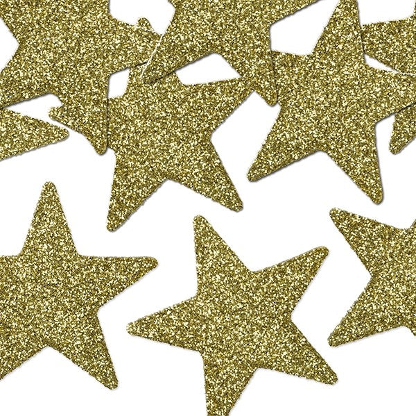 Glittery Gold Star Table Decorations I Star Confetti I My Dream Party Shop I UK