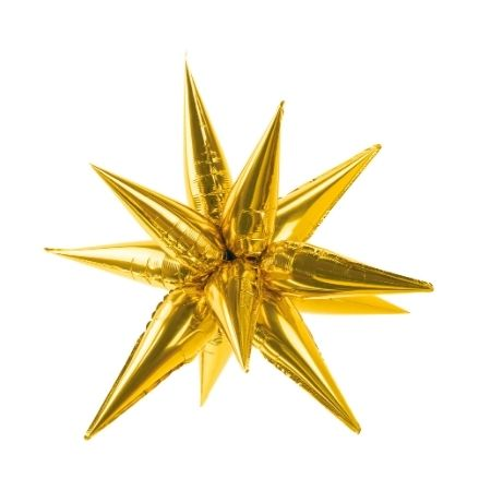 Gold Starburst 3D Foil Balloon 95 cm I Gold Party Balloons I My Dream Party Shop