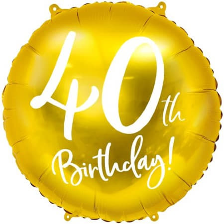 40th Birthday Gold Balloon I Milestone Birthday Party I My Dream Party Shop UK