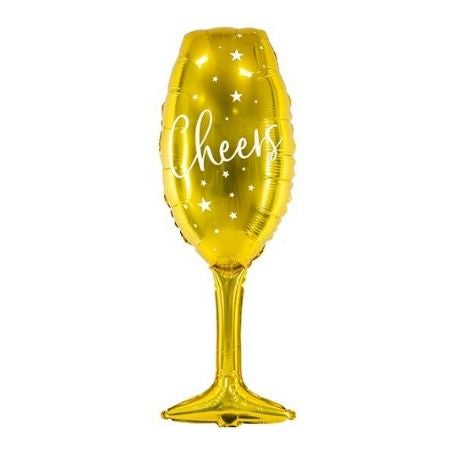 Gold Champagne Glass Balloon I New Year's Eve Balloons I My Dream Party Shop