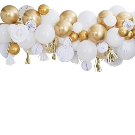 Gold Balloon and Fan Garland I Gold Party Decorations I My Dream Party Shop