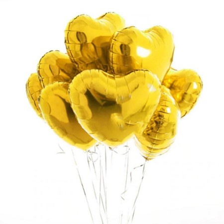 Gold Heart Balloon Cluster I Helium Balloons Collection Ruislip I My Dream Party Shop