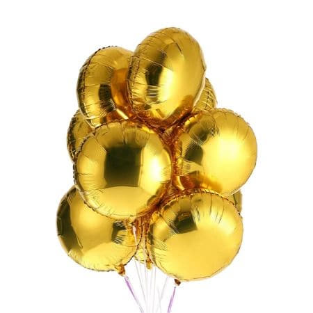 Gold Round Foil Balloon I Gold Party Decorations I My Dream Party Shop UK